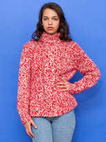 American Apparel Vintage Marled Cable Knit Turtleneck Sweater