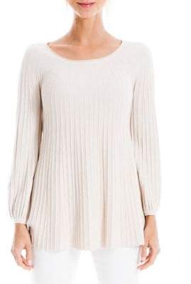 Max Studio Pleated Peplum Sweater