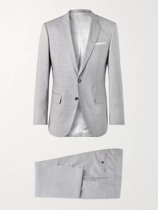 HUGO BOSS Hutson Slim-Fit Wool, Linen And Silk-Blend Suit