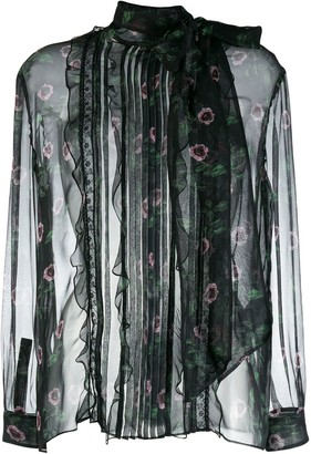 Valentino Floral Sheer Blouse