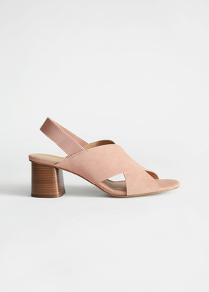 And other stories Criss Cross Suede Heeled Sandals