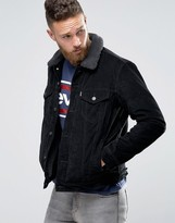 Levis Levi's Cord Borg Lined Jacket Type 3 Trucker