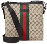 Gucci Gg Taupe Canvas Messenger Bag