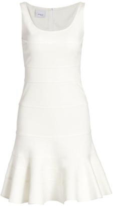 Akris Punto Tiered Godet Sleeveless Jersey Dress