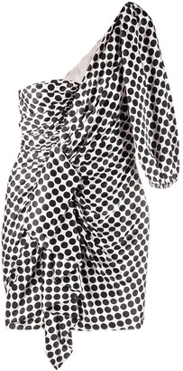 Alexandre Vauthier Polka-Dot Ruffle Mini Dress