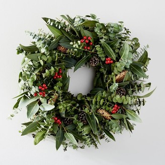 west elm Red Berries Wreath
