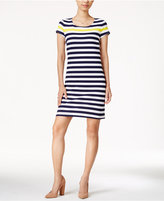 Maison Jules Striped Short-Sleeve Dress, Only at Macy's