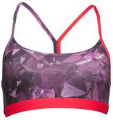 Reebok Womens CrossFit Graphic Skinny Bra Top Celestial Orchid