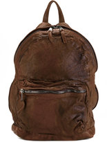 Giorgio Brato front zip backpack - men - Lamb Skin - One Size