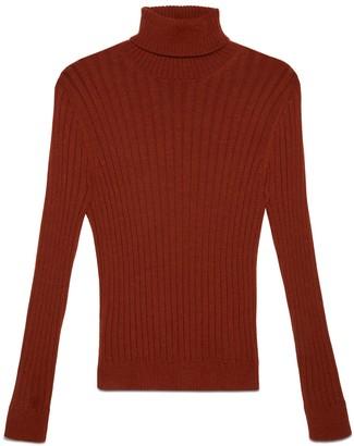 Gucci Rib knit alpaca wool turtleneck