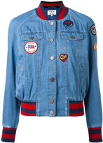 Tommy Hilfiger denim bomber jacket - women - Cotton/Polyester/Spandex/Elastane/Viscose - M