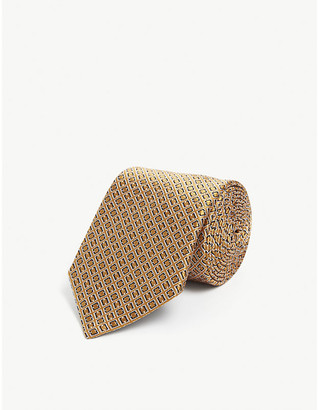 Lanvin Geometric-print silk tie