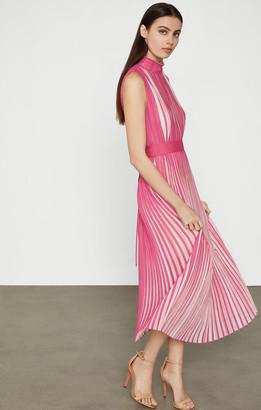 BCBGMAXAZRIA Pleated Midi Dress