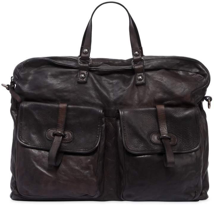 Campomaggi Leather Bag W/ Vintage Effect