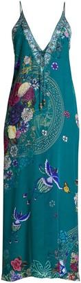 Camilla Lunar Gazing V-Neck Silk Dress