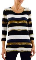 Haggar Women's 3/4-Sleeve Knit Tee