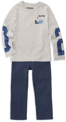True Religion Little Boy's 2-Piece Long Sleeve Tee & Jeans Set