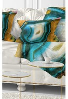 Abstract Colorful Agate Pattern Lumbar Pillow East Urban Home
