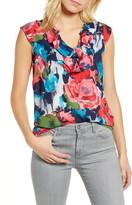 Gibson x International Women's Day Fancy Ashley Ruffle Detail Cap Sleeve Blouse