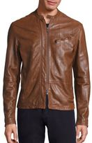 John Varvatos Antique Racer Leather Jacket
