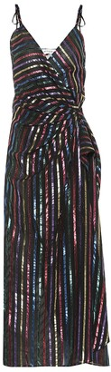 ATTICO Striped jacquard wrap dress