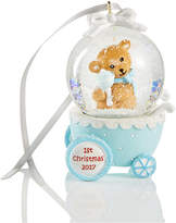 Holiday Lane 2017 Blue Baby's First Waterglobe Ornament, Created for Macy's