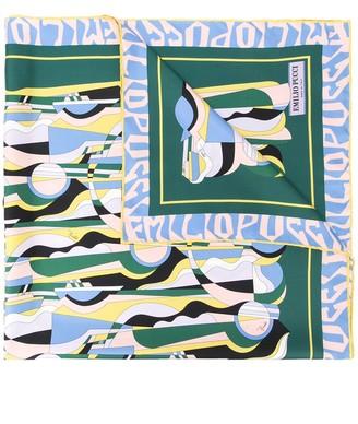 Emilio Pucci Graphic-Print Cashmere Scarf