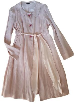 Tara Jarmon Pink Linen Trench Coat for Women