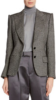Tom Ford Donegal-Tweed Strong-Shoulder Jacket