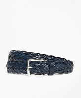 Brooks Brothers Leather Braided Belt