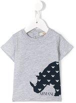 Armani Junior rhino print T-shirt