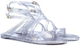 Jimmy Choo Lance Jelly glitter sandals