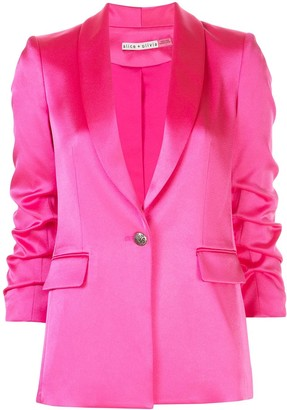 Alice + Olivia Ruched Sleeve Blazer
