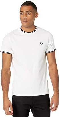 Fred Perry Twin Tipped Ringer T-Shirt (Black) Men's T Shirt