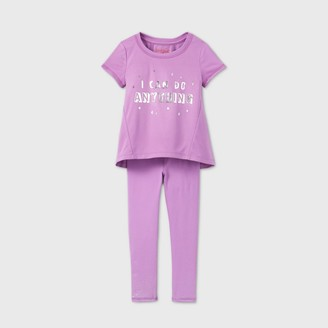 Cat & Jack Toddler Girls' 'I Can Do Anything' Active T-Shirt and Leggings Set - Cat & JackTM