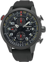 Seiko Men's Solar Chronograph Prospex Black Silicone Strap Watch 44mm SSC371
