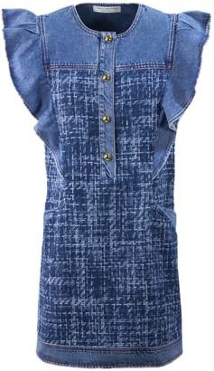 Philosophy di Lorenzo Serafini Dark Blue Denim Dress