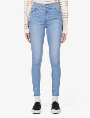 Levi's Mile High skinny high-rise cotton-blend denim jeans