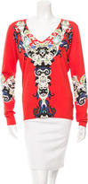 Etro Printed V-Neck Top