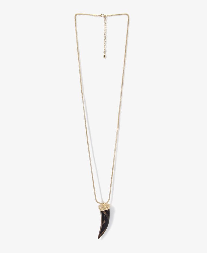 Forever 21 Long Horn Necklace
