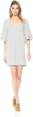 Lucky Brand Women's Stripe Ruffle Mini Dress