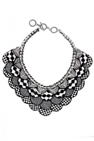 Forest of Chintz Black & White Nefertiti Necklace