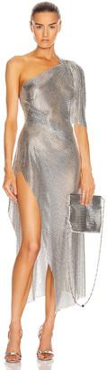 Fannie Schiavoni Margot Dress in Silver | FWRD
