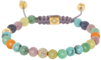 Shamballa Jewels 18kt Yellow Gold Diamond Gemstone Bead Bracelet