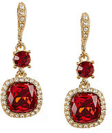 Givenchy Stone Cushion Drop Earrings