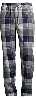 Hanro Men's Thilo Woven Plaid Pajama Pants