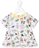 Fendi Space Monsters print T-shirt - kids - Cotton/Spandex/Elastane/Modal - 12 mth