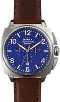 Shinola 46mm Brakeman Chronograph Watch, Blue/Brown