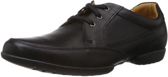 Clarks Recline Out Lace-Ups Mens Leather Shoes - Black (10 UK)