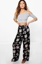 Boohoo Adora Woven Floral Wide Leg Trousers